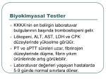 biyokimyasal testler