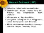 menurut burkhardt 1993