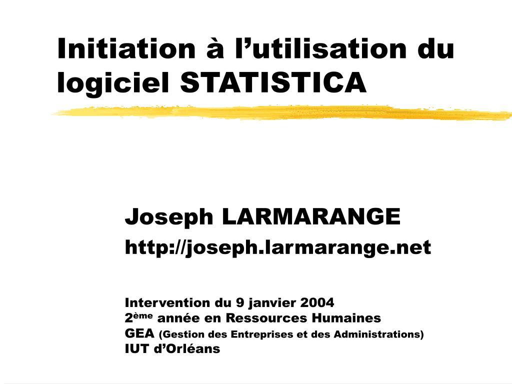 initiation l utilisation du logiciel statistica l.