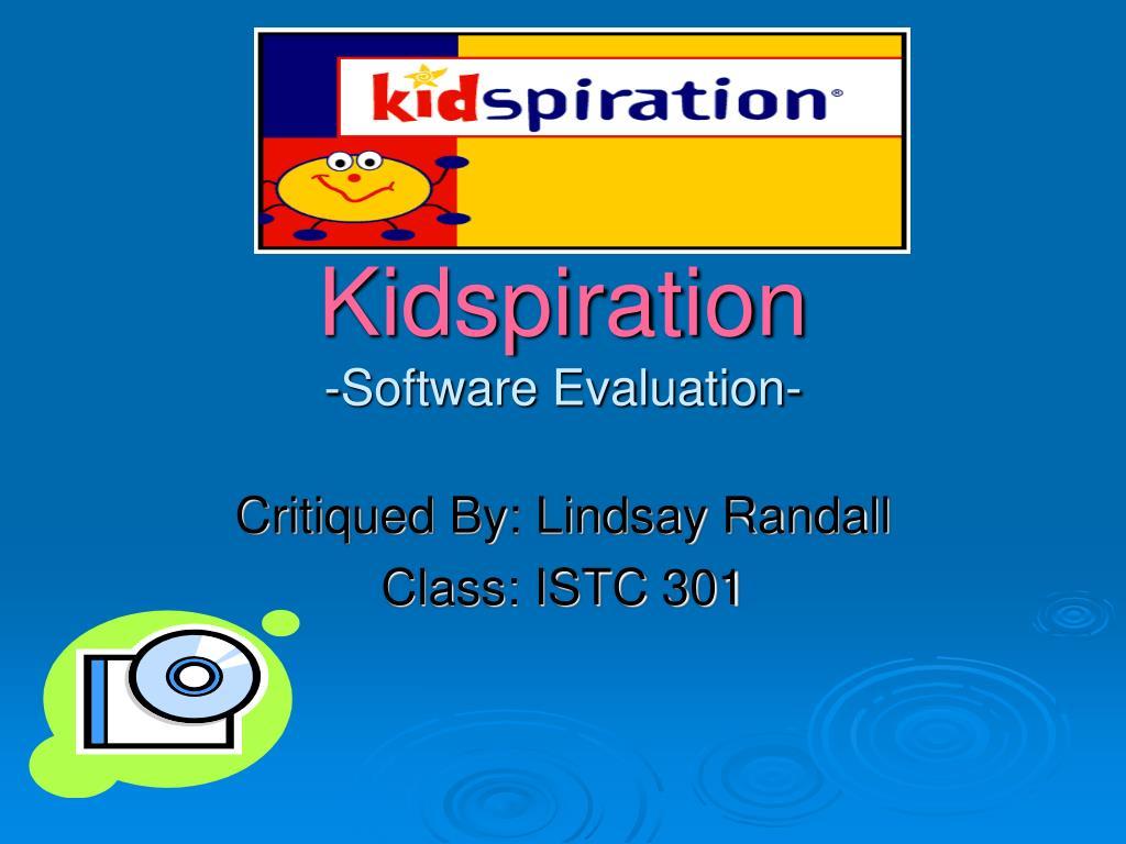 kidspiration software evaluation l.
