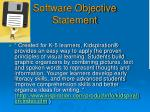 software objective statement
