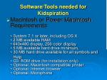 software tools needed for kidspiration