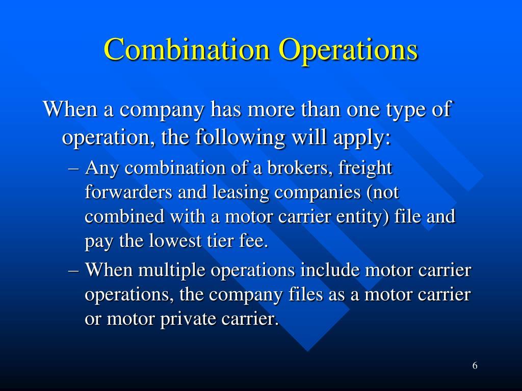 Combination Operations