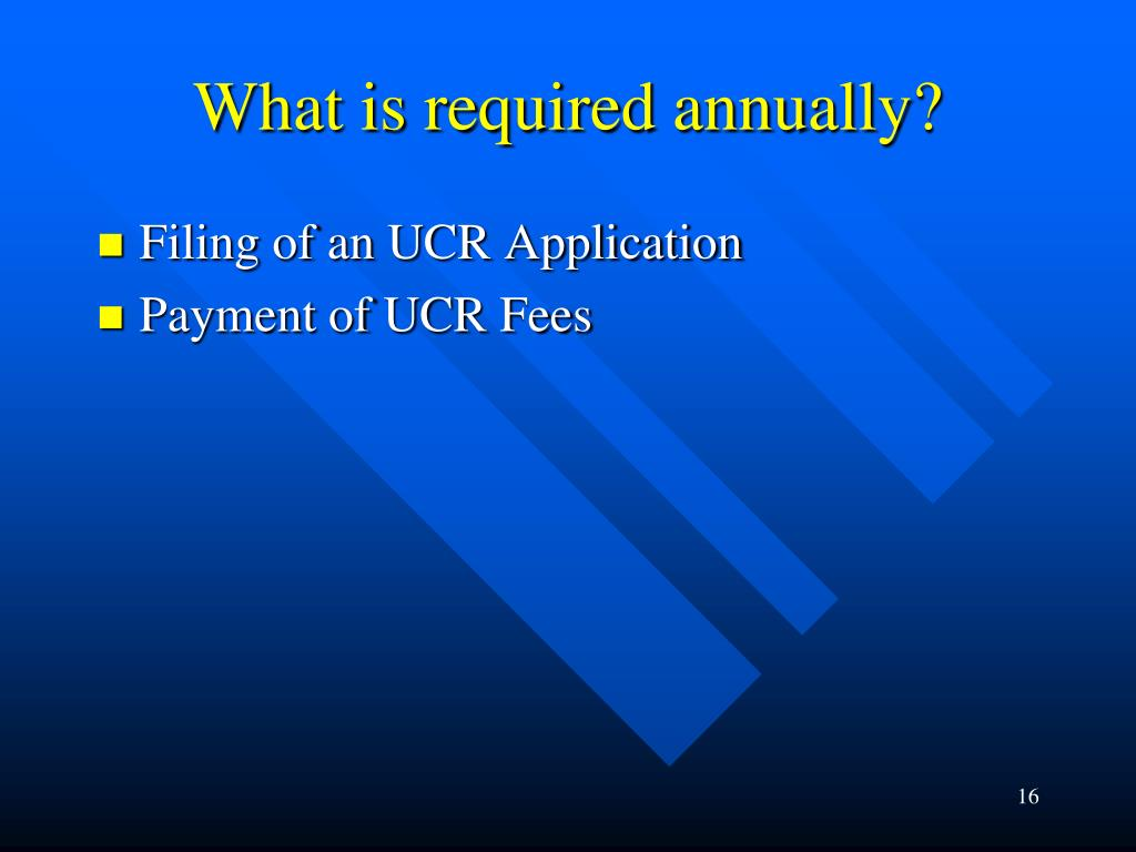What is required annually?