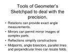 tools of geometer s sketchpad to deal with the precision
