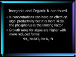 inorganic and organic n continued