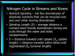 nitrogen cycle in streams and rivers