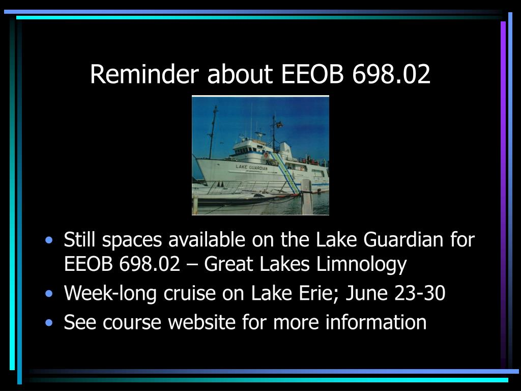 reminder about eeob 698 02 l.