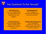 key questions to ask yourself