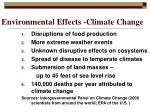 environmental effects climate change