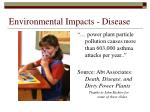 environmental impacts disease