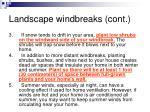 landscape windbreaks cont