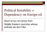 political instability dependency on foreign oil4