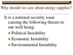 why should we care about energy supplies12
