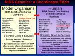nida genetics a coordinated effort