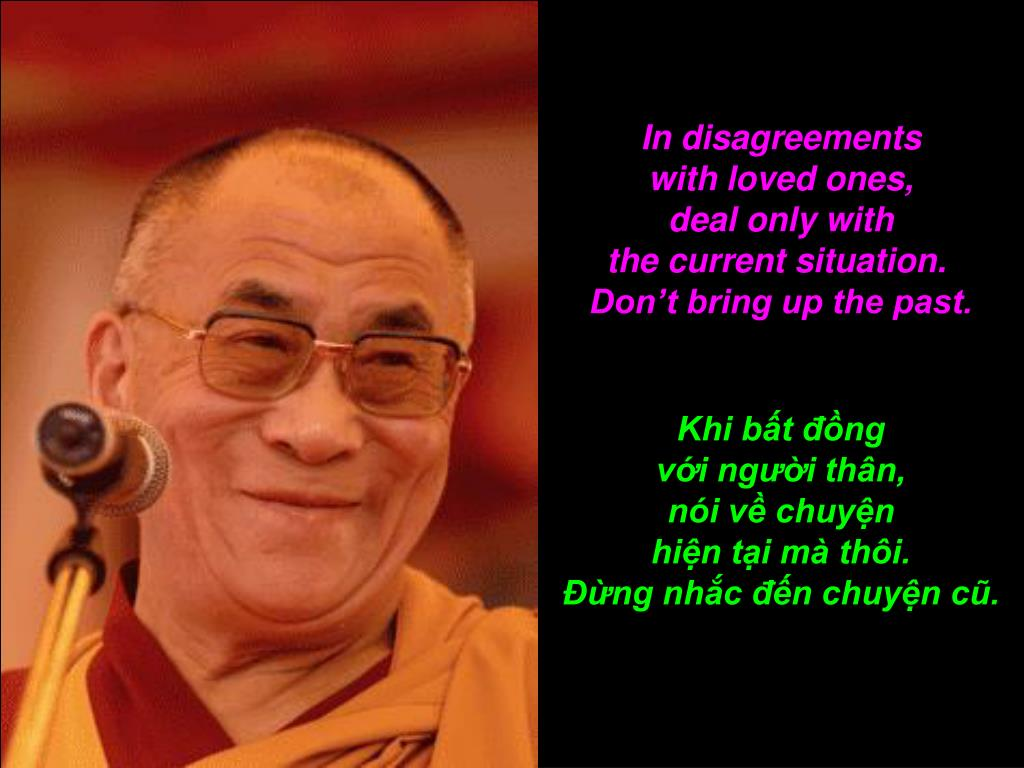 In disagreements