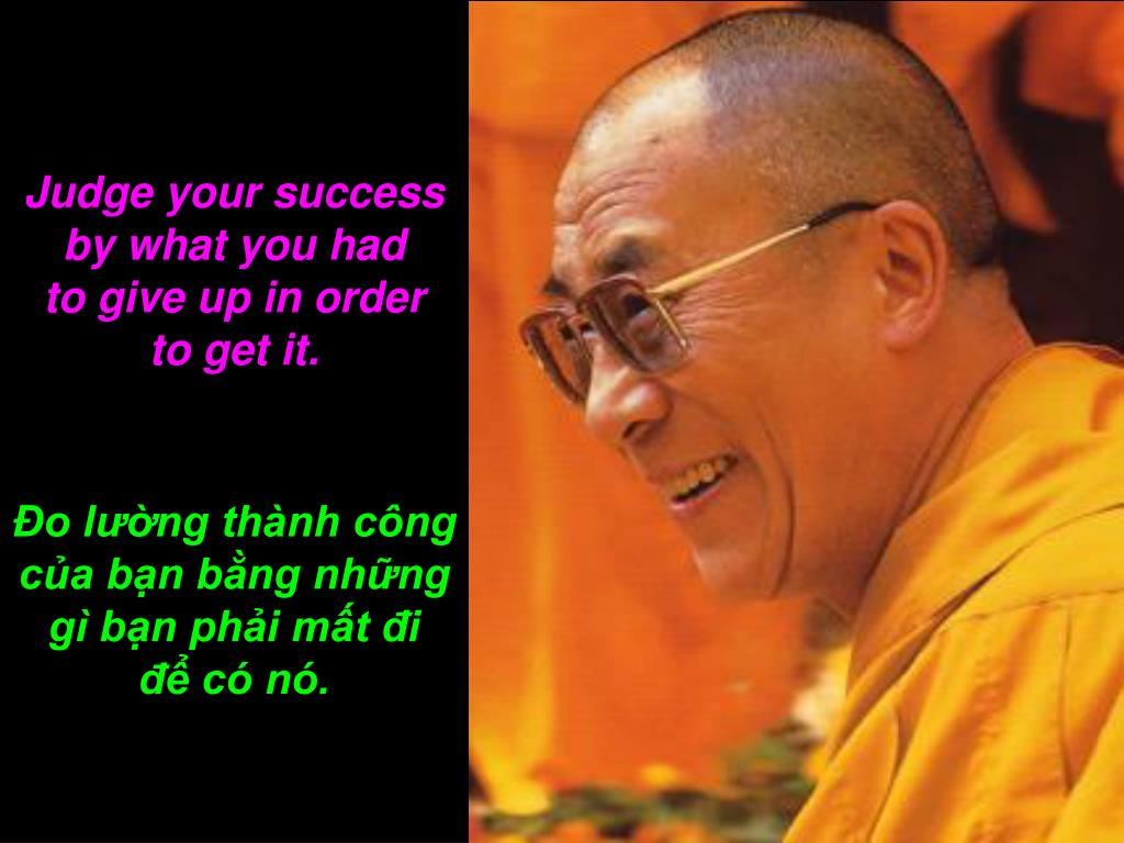 Judge your success