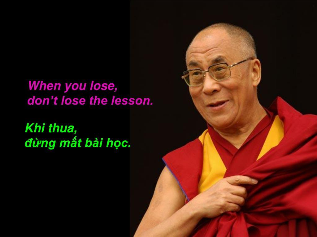 When you lose,