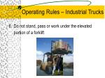 operating rules industrial trucks6