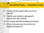 operating rules industrial trucks9