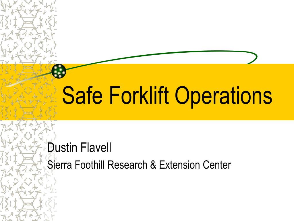 safe forklift operations l.