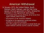 american withdrawal