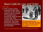 nixon calls for law and order9