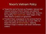 nixon s vietnam policy
