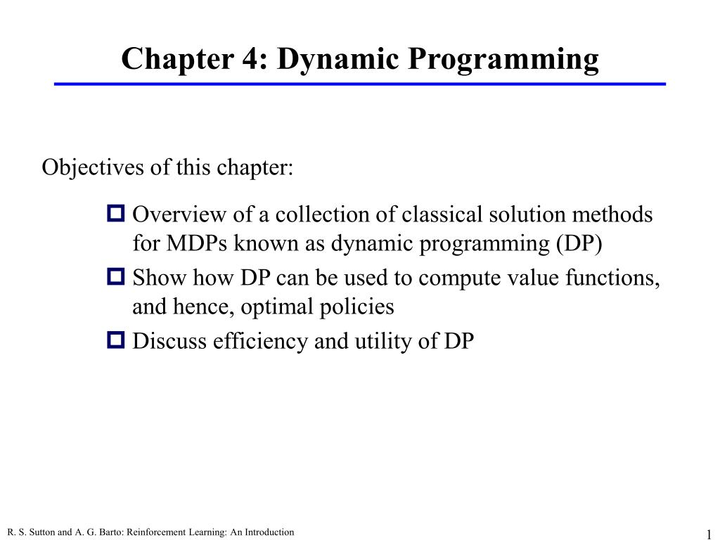chapter 4 dynamic programming l.
