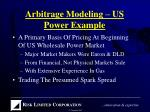 arbitrage modeling us power example
