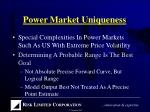 power market uniqueness