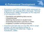 4 professional development