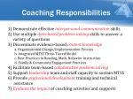 coaching responsibilities