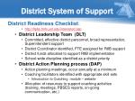 district system of support