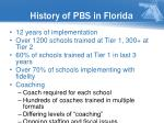 history of pbs in florida