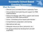 successful school based coaching essentials