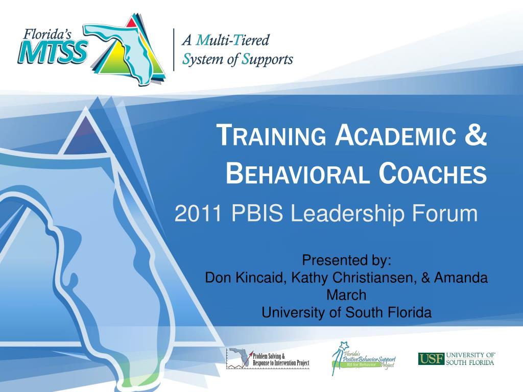 training academic behavioral coaches l.