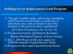 building sewer replacement grant program