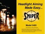 headlight aiming made easy