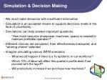 simulation decision making