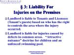 3 liability for injuries on the premises