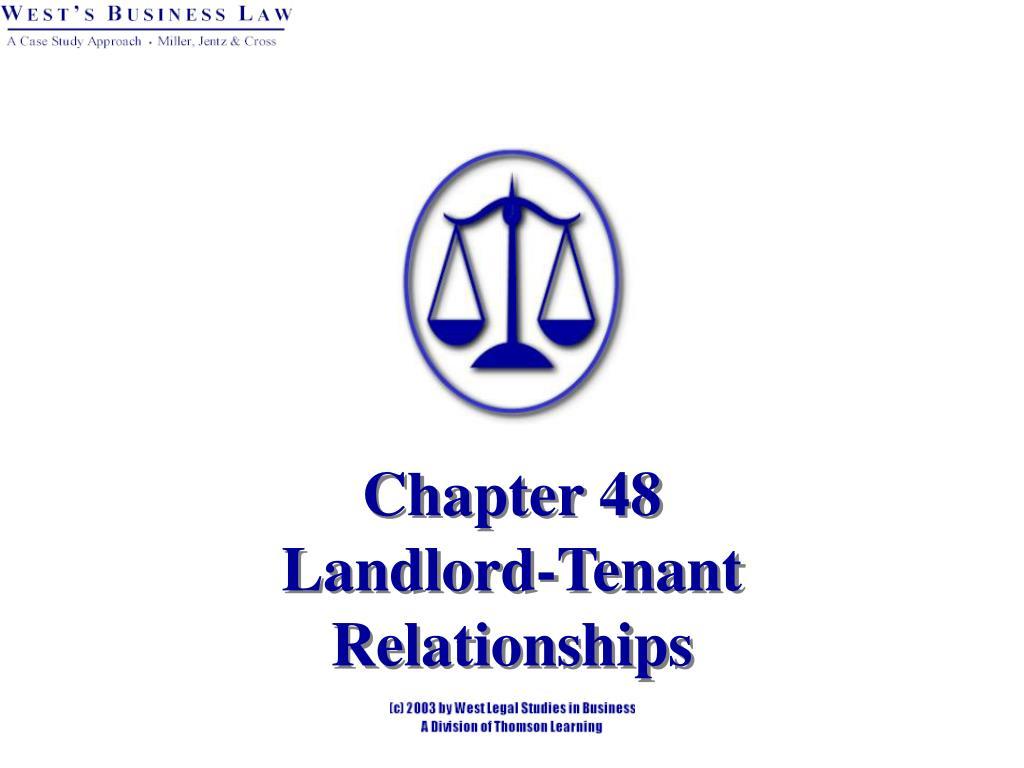 chapter 48 landlord tenant relationships l.