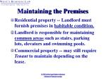 maintaining the premises