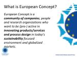 what is european concept