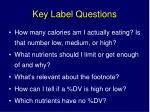 key label questions