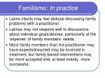 familismo in practice