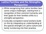 latino families and the strengths perspective