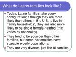 what do latino families look like