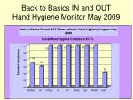 back to basics in and out hand hygiene monitor may 2009