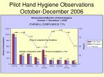 pilot hand hygiene observations october december 2006